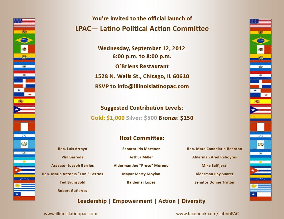 September 12th Illinois Latino PAC Fundraiser @ O'Briens Old Town | Chicago | Illinois | United States